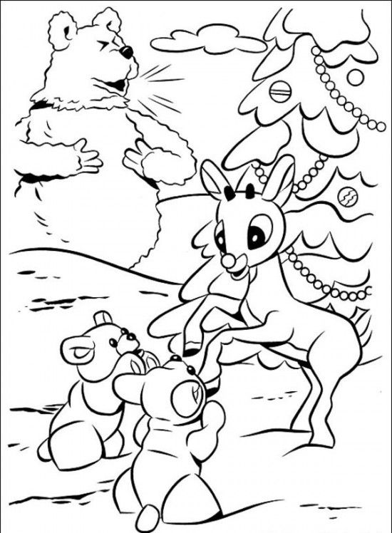 Rudolph The Red Nosed Christmas Reindeer Coloring Pages