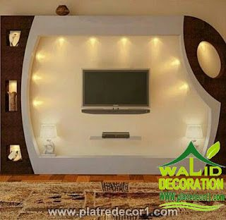 Decor platre 2016 deco ba13 pinterest tv walls tvs for Decoration ba13