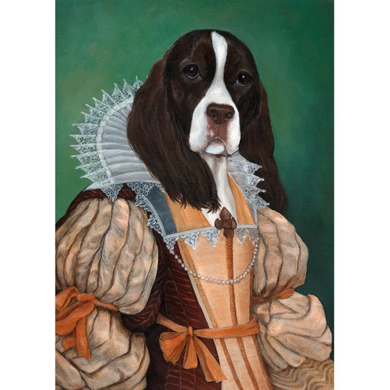 Actual picture is 8 x 11on white background. with Pheasant on One 16 inch Fabric Panel to Sew ENGLISH SPRINGER SPANIEL Liver /& White