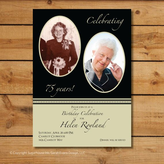 Anniversary Party Invitations  Now and Then  by sugarhouseink, $13.50