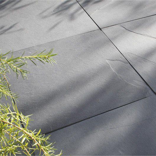 Pour La Terrasse Du Jardin Dalle Gaya Ardoise Noir Ep 10 Mm X L 60 X L 60 Cm Dalle Exterieur