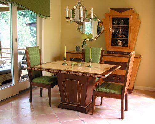 Magnificent Art Deco Furniture Art Deco Dining Room Set Art Deco Home Interior And Landscaping Staixmapetitesourisinfo