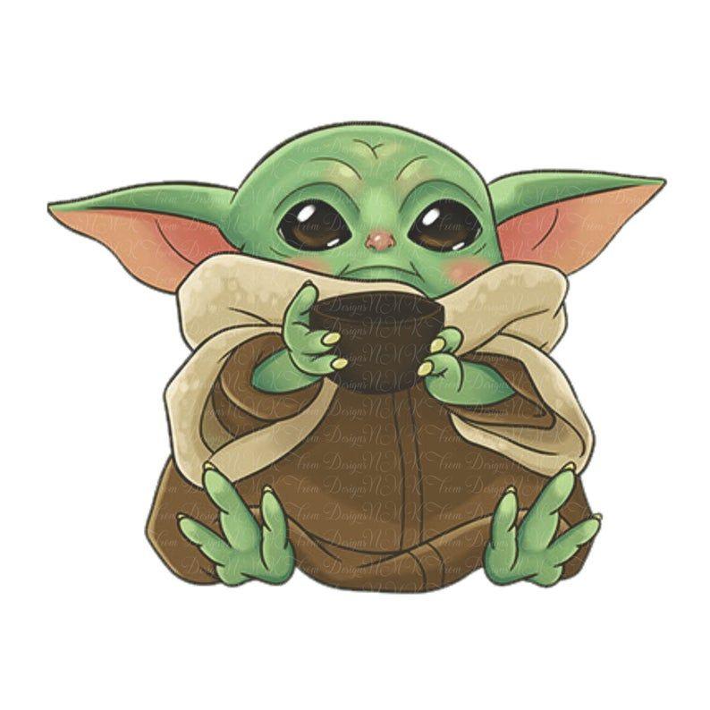 Baby Yoda Mandalorian Sublimation Designs Png Format Graphic Etsy Yoda Art Star Wars Drawings Yoda Wallpaper