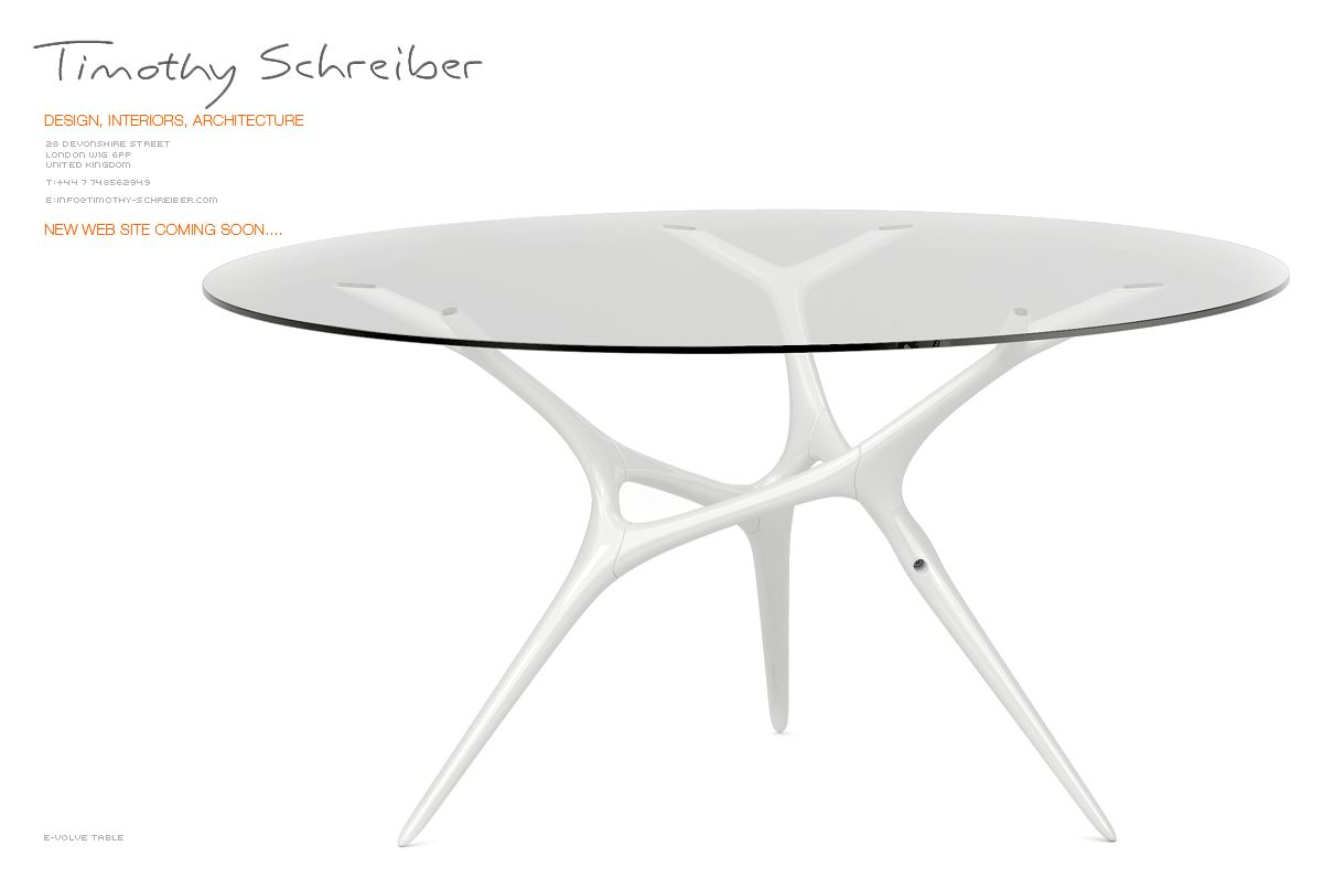 E-volved table | Habitusliving.com The graceful, fluid design mimics ...