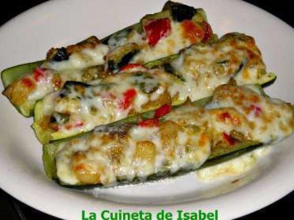 Receta Calabacín gratinado relleno de pisto, para La cuineta de Isabel - Petitchef