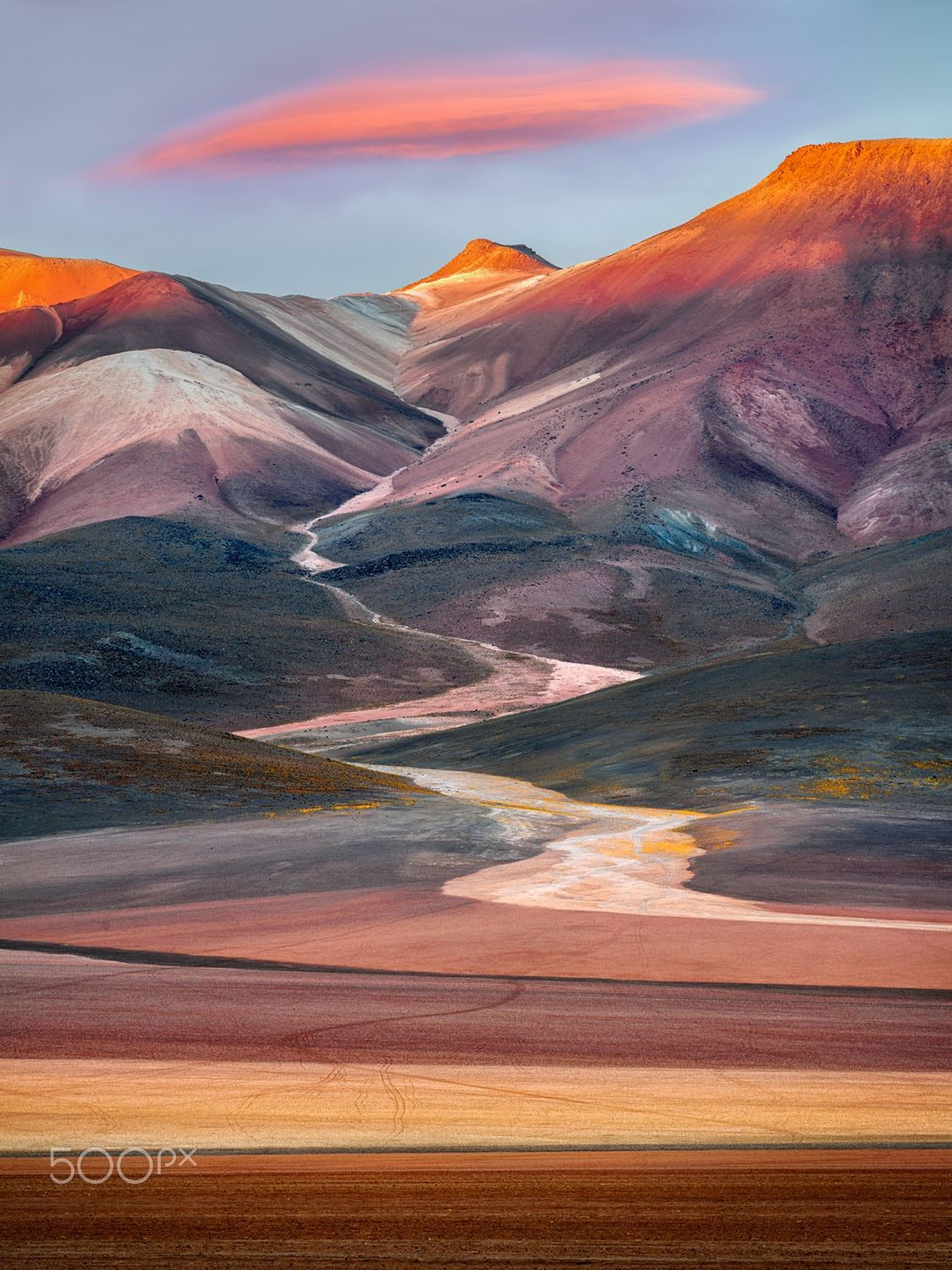 Art Wolfe Floating Market Seven Colors Mountain Seven Colors Mountain Bolivian Altiplano
