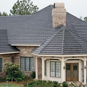 Charcoal Slate Boral Saxony Concrete Roof Tiles Reroofing New Home Designs