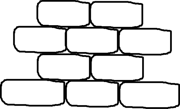 Red Brick House Clipart Wall With No Words Hi For Coloring Pages