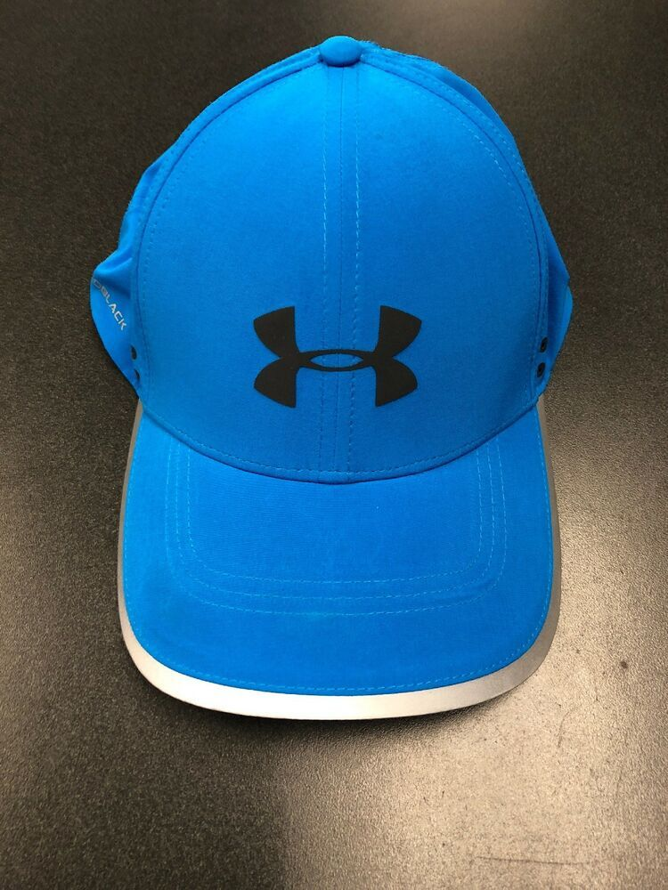 Under Armour Blue Coldblack Running Cap Hat Jogging Golf Outdoors