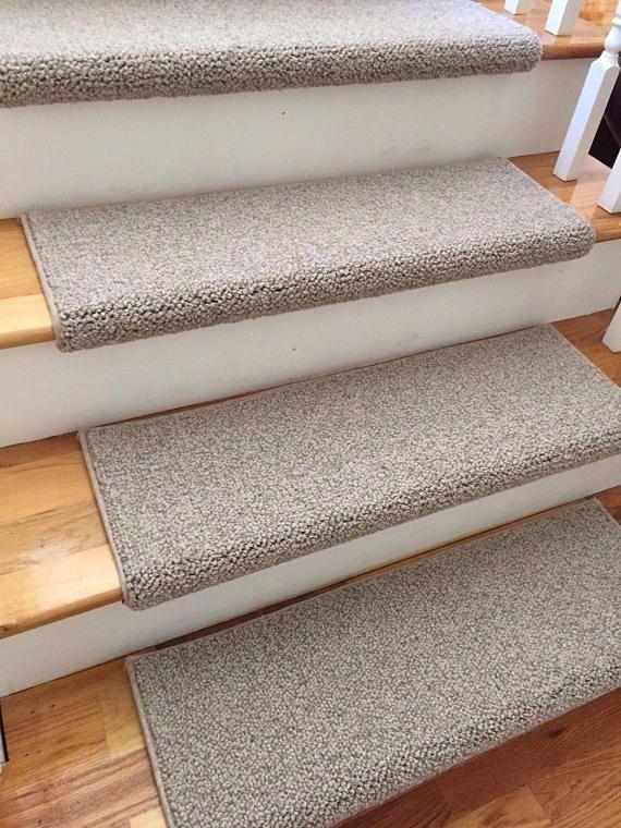 Tweed Linen Taupe Ecco Tex Blend New Zealand Wool True Bullnose   Tweed Carpet For Stairs   Adam   Modern   Mustard   Hard Wearing   Wool