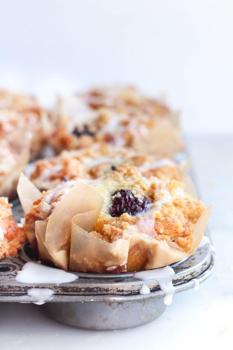 Blackberry greek yogurt crumb muffins berries recipes
