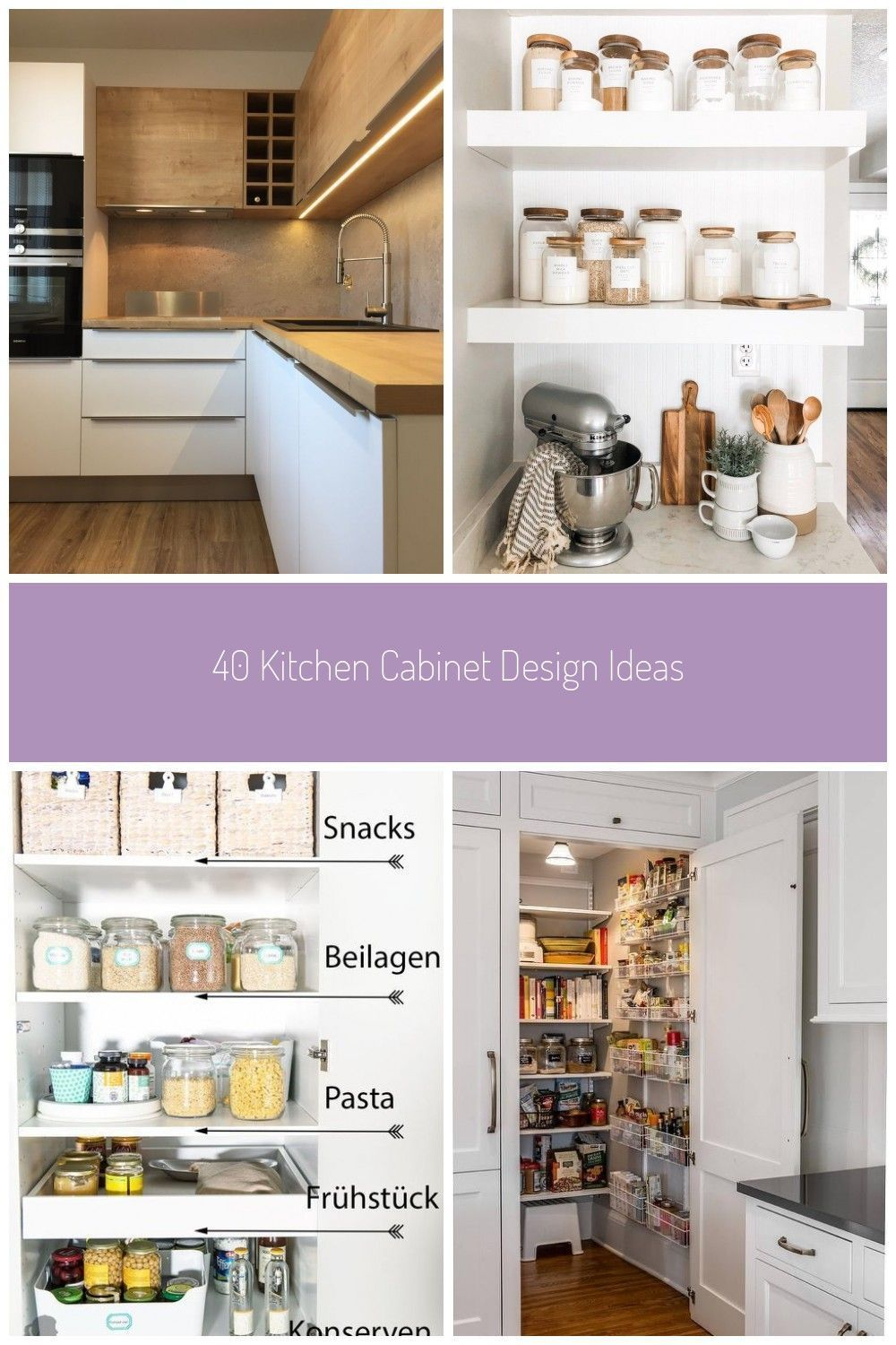40 Kitchen Cabinet Design Ideasa Stylish Addition To Any Pantry These Sticker Addition Ca Kitchenp Cabinet Design Kitchen Cabinet Design Kitchen Design