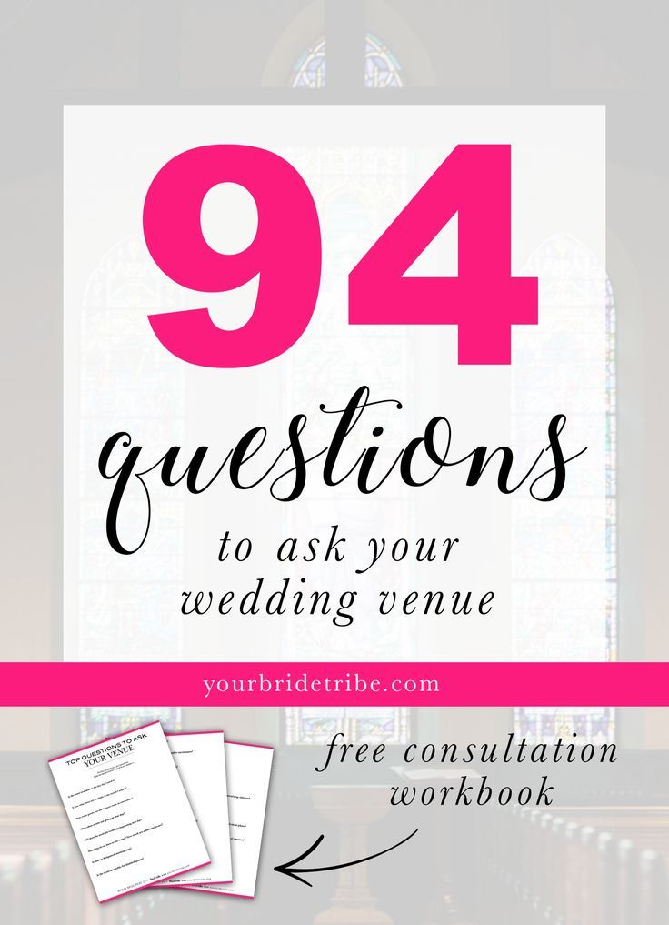 94 Questions To Ask Your Venue Wedding Planning Checklist Wedding