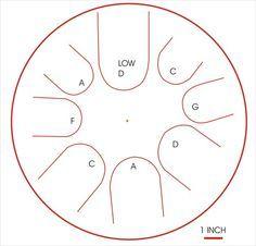 Propane Tank Drum Template Drum Patterns Diy Musical Instruments Drums