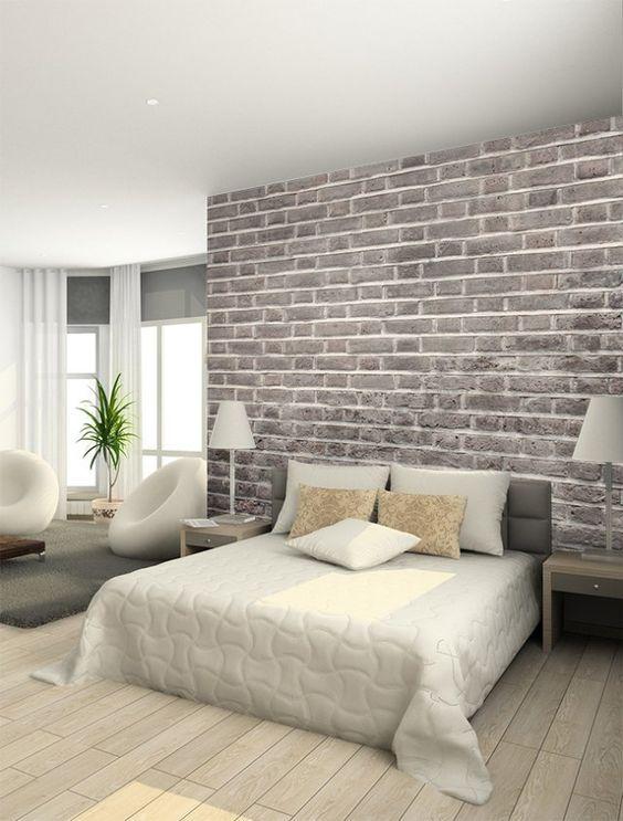 Diy : Créer Un Mur De Briques Avec Du Papier Peint | Murs De