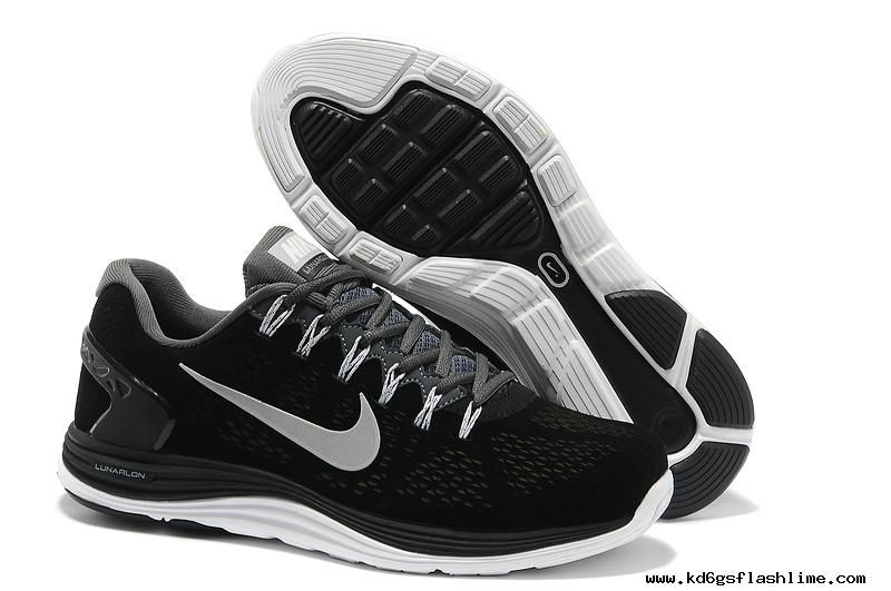 Mens Nike LunarGlide 5 Suede Black Grey Silver Shoes Cheap