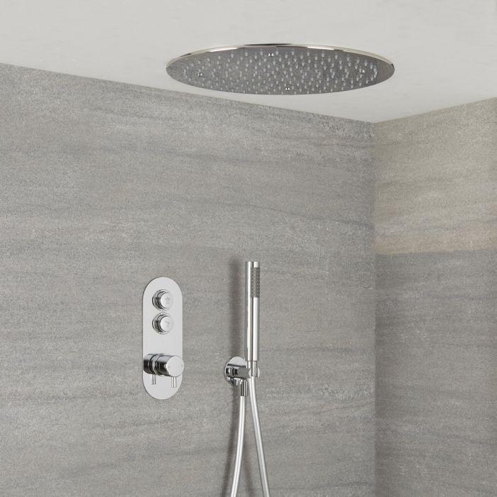 Colonne de douche en acier inoxydable Ensemble de Douche de pluie douche 40*40cm Syst/ème de douche /à effet pluie et douchette /à main