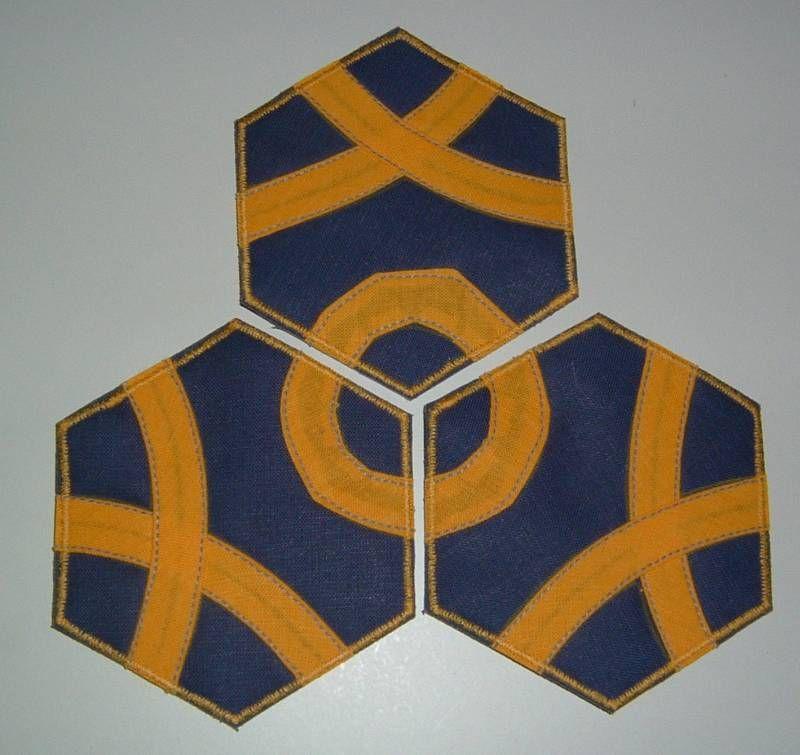 Textile Hexagon Tiles