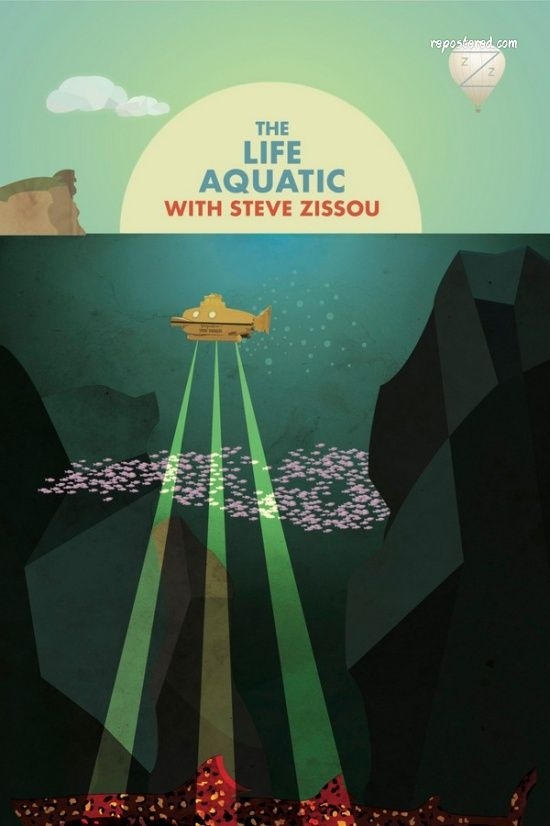 the life aquatic with steve zissou repostered fan made