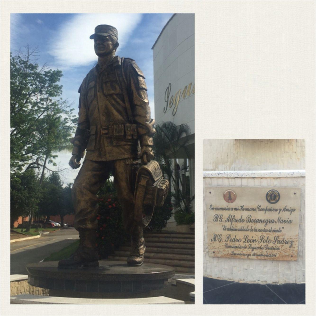 En memoria del BG. Alfredo Bocanegra Navia en la Quinta Brigada del Ejército de Colombia