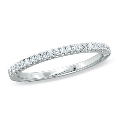 T W Diamond Wedding Band In 14k White Gold Zales Bands