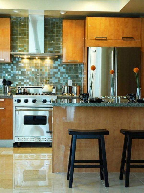 Wandgestaltung Aus Glas Einrichtungsideen Küche