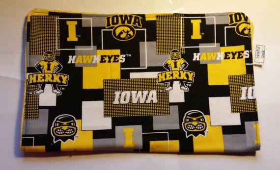 Burp Rag University of Iowa Hawkeyes by GratefulGeek on Etsy