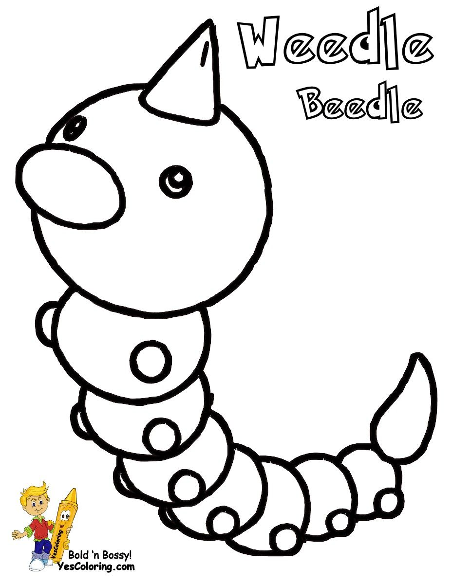 Pokemon Coloring Pages Weedle