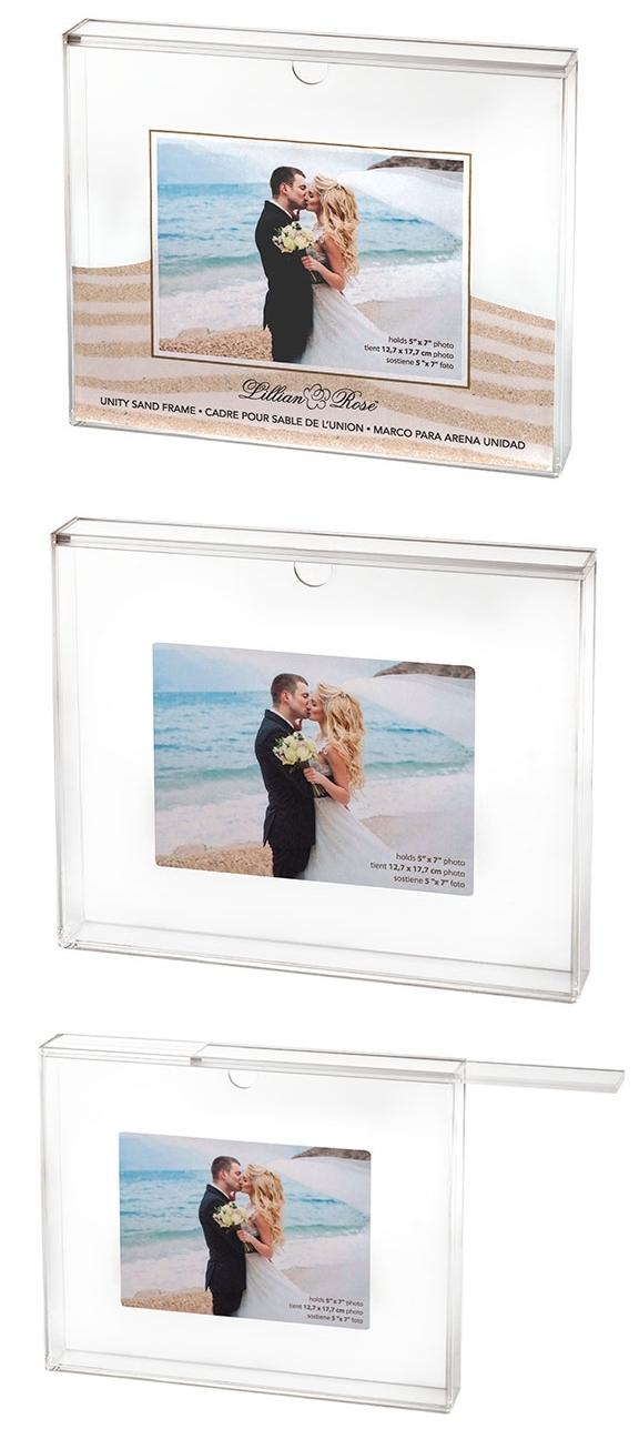 Acrylic Unity Sand Wedding Ceremony Photo Frame Set