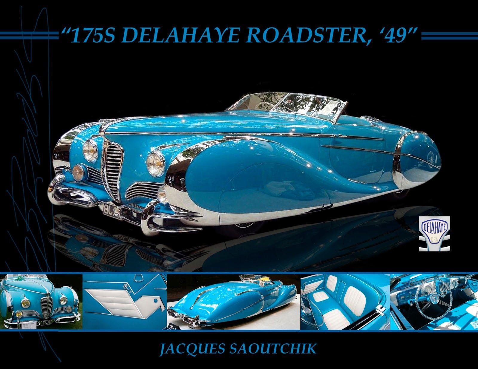 art deco cars   ... Cars, Delahaye Roadster, Saoutchik, Sports art ...
