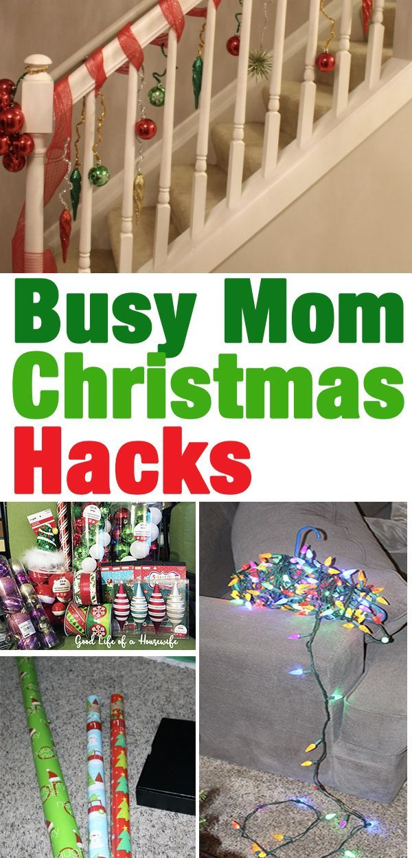 Busy Mom's Christmas Hacks -   15 holiday Hacks good ideas