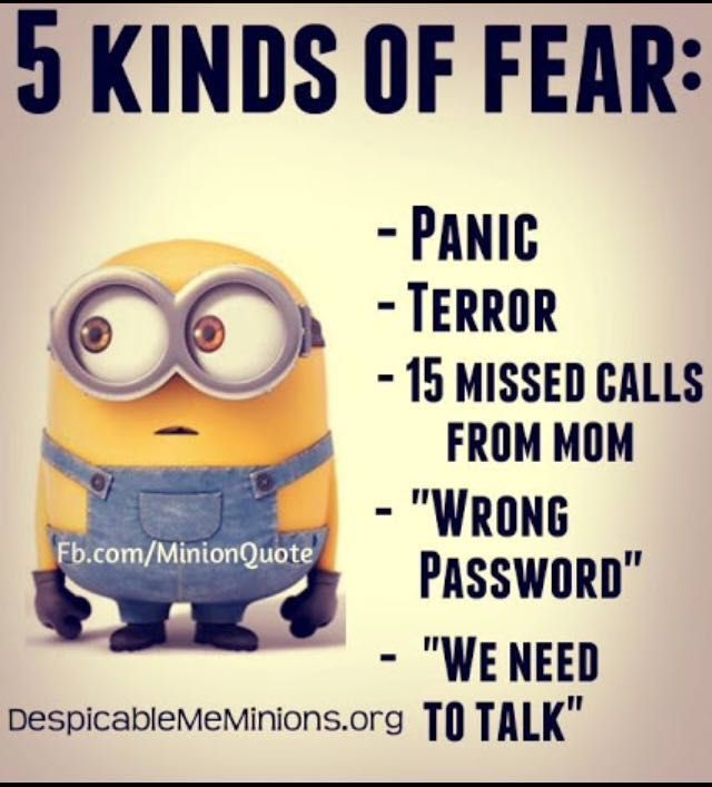 Minion memes and quotes - Fear