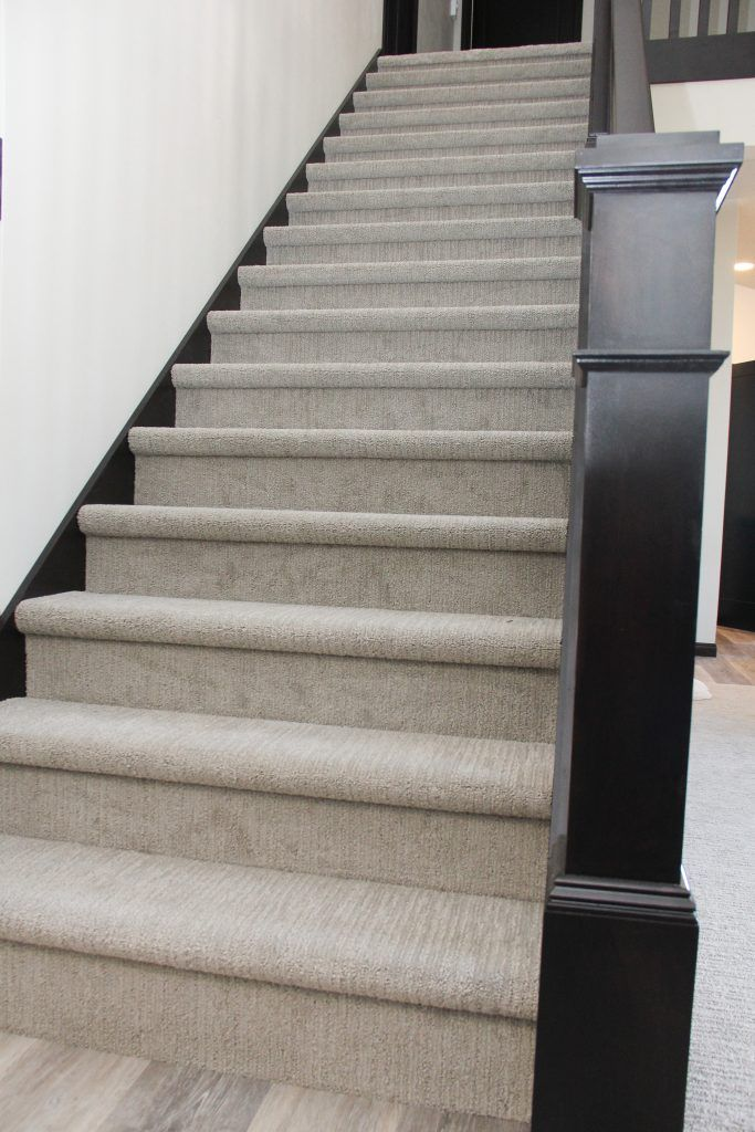 Light Gray Staircase Carpet Carpet staircase, Stairway