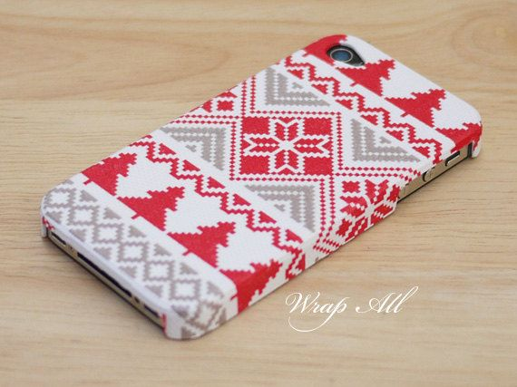 brand new bc216 f58b9 Christmas cross stitch pattern iPhone 5 case / iPhone by WrapAll ...