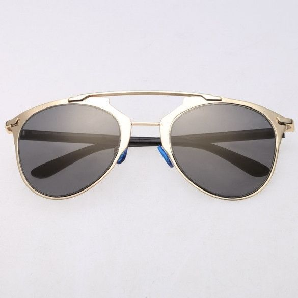 ff167846df42 Hot Fashion Lady Women s Retro Dual Horizontal Beam Full Frame Sunglasses