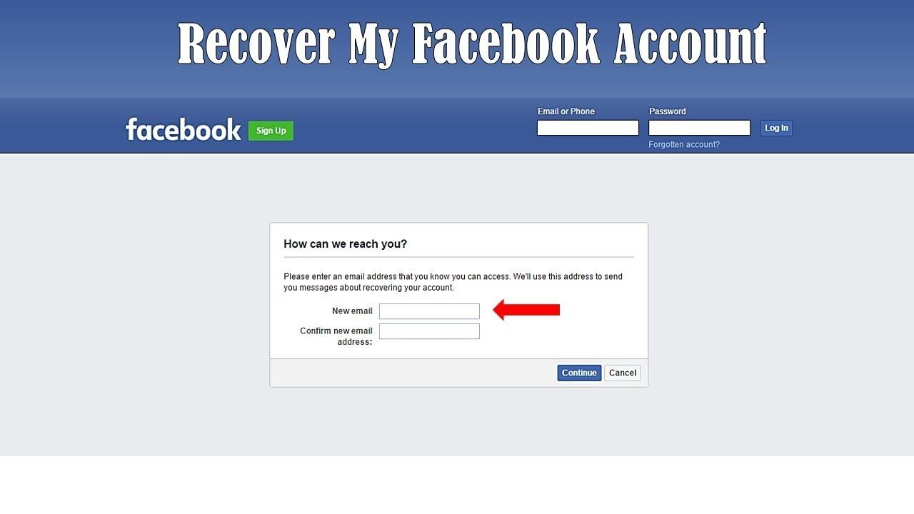 How to recover facebook account without phone number in