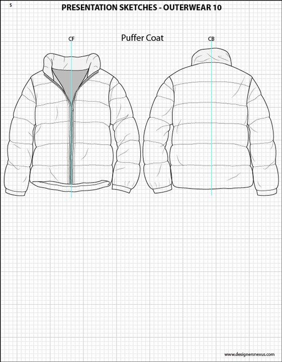 Mens Illustrator Flat Fashion Sketch Templates - Presentation ...