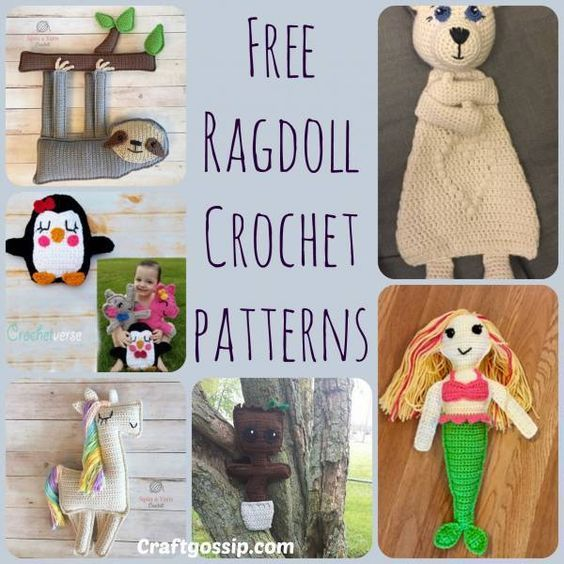 These Ragdoll Style Crochet Patterns Are Hard To Find As The Trend