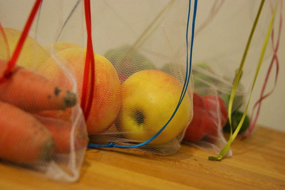 DIY wiederverwendbare Gemüsebeutel | Basteln | Sewing, DIY ...