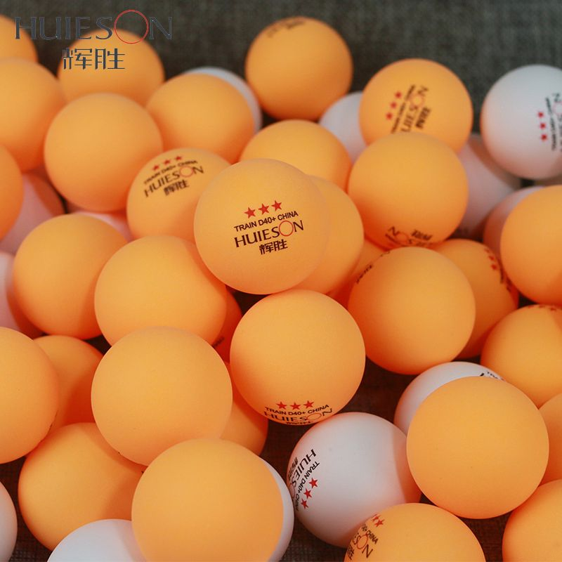 huieson 50 pcs/pack 3 star nouveau matériel tennis de table boules