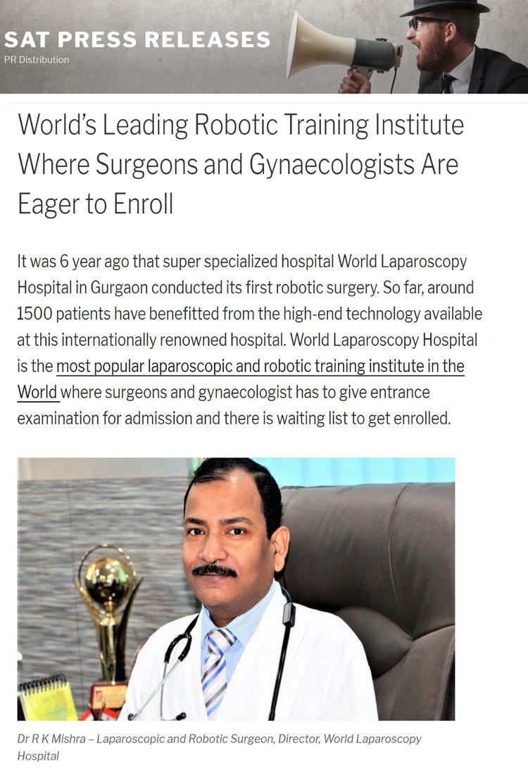 World's Leading Robotic Surgery Training Institute