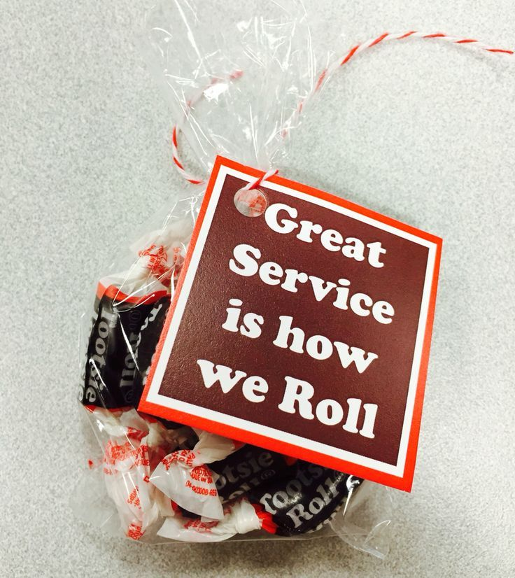 Toostie Roll Gift Tag Employee appreciation gifts