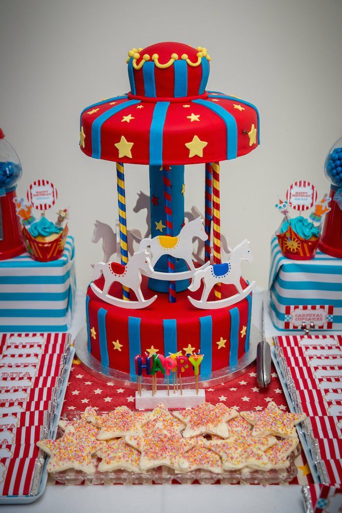 Circus Carnival Themed First Birthday Party Carnival Birthdays