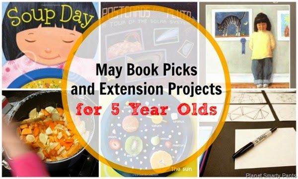 Books & Extension Projects for May!  #springreading #booksforkids