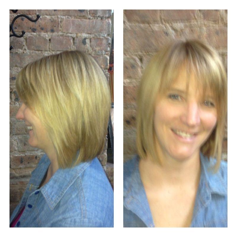 A Textured Bob Haircut By Diane Hair Haircut Bobcut Blondie