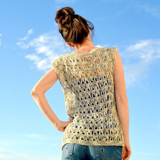 Make Your Own Crocheted Broomstick Lace Top With This Free Pattern