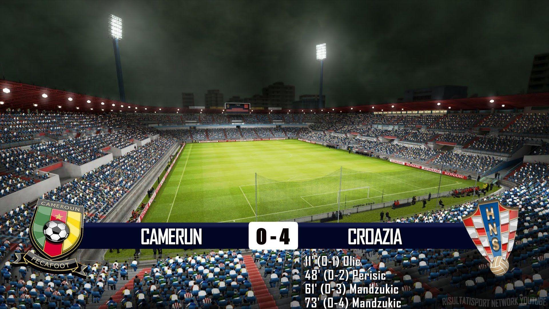 CAMERUN - CROAZIA 0-4 - MONDIALI BRASILE 2014 - 19-6-2014 - SCHEDA TECNICA