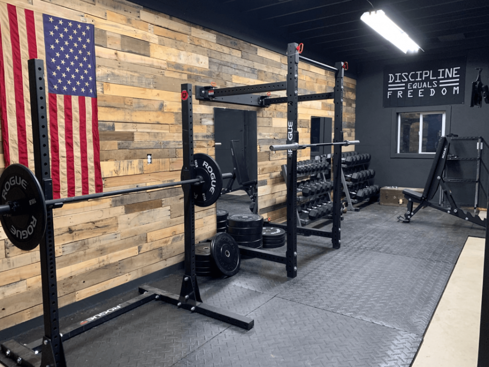 Rogue Equipped Garage Gyms Photo Gallery Rogue Fitness In 2020 Gym Room At Home Home Gym Design Home Gym Basement