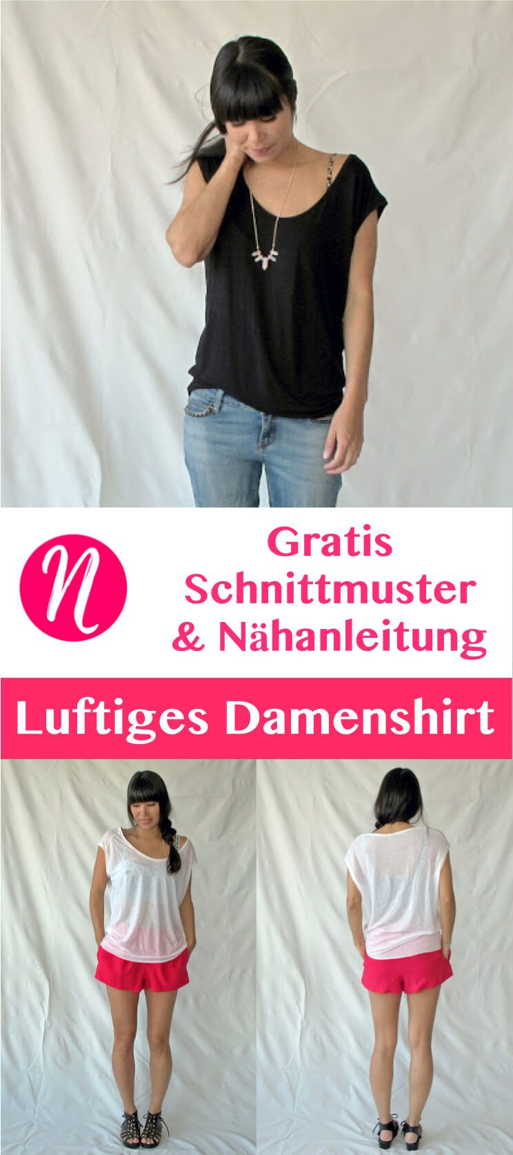 Das Elise-T-Shirt für Damen | Tiefer ausschnitt, Gratis ...