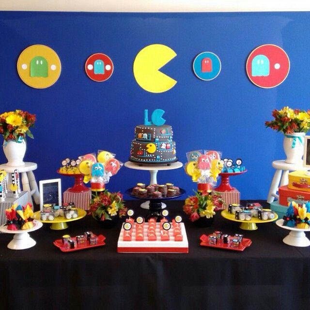 Pac Man Party 80s Little Birthday Games
